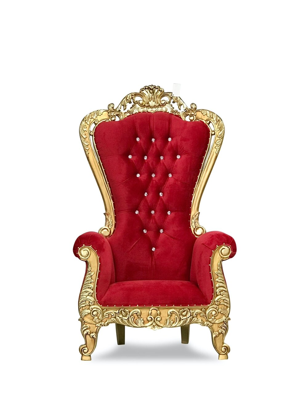 Red and gold Throne Chair Rentals